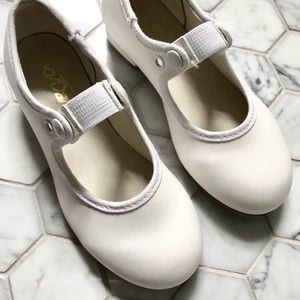 Other - Dance White leather tap shoes